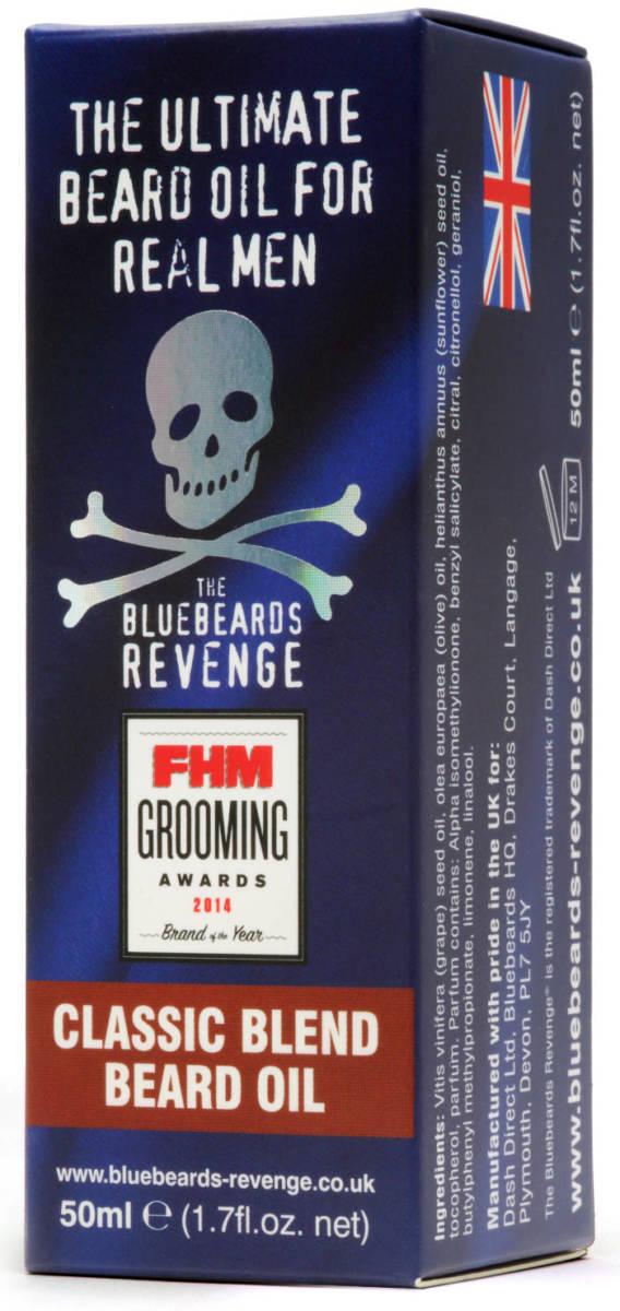 Tuotekuva: The Bluebeards Revenge partaöljy – CLASSIC BLEND (50ml)