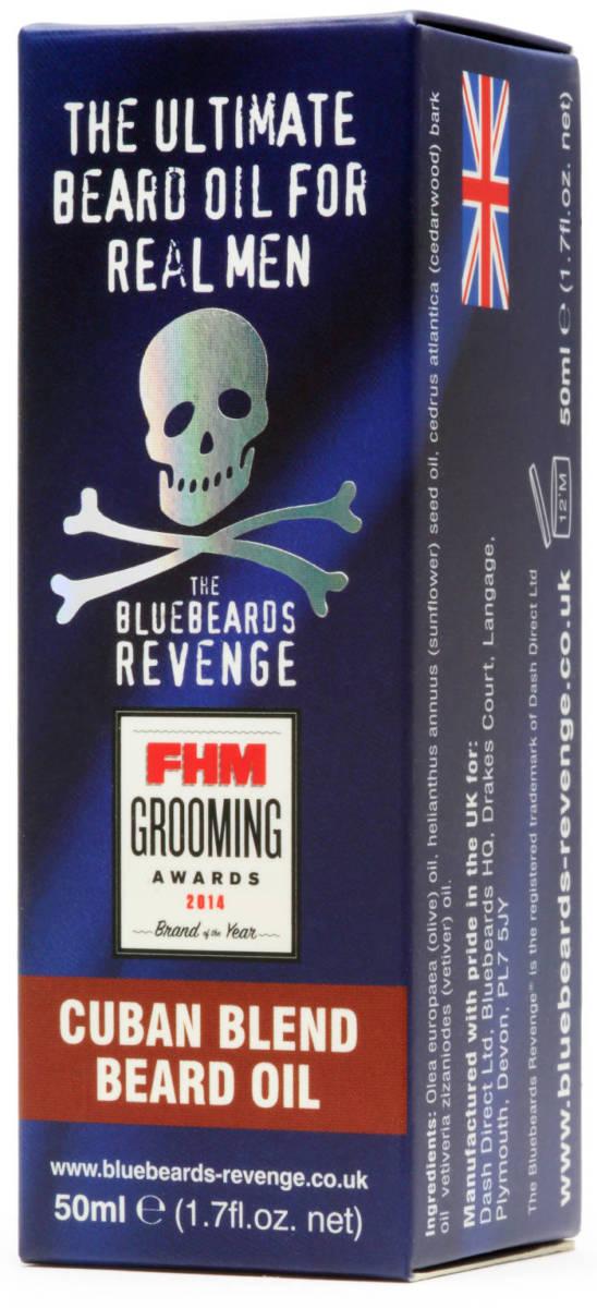 Tuotekuva: The Bluebeards Revenge partaöljy – CUBAN BLEND (50ml)