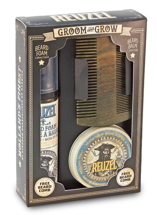 Tuotekuva: Reuzel GROOM&GROW -lahjasetti parralle
