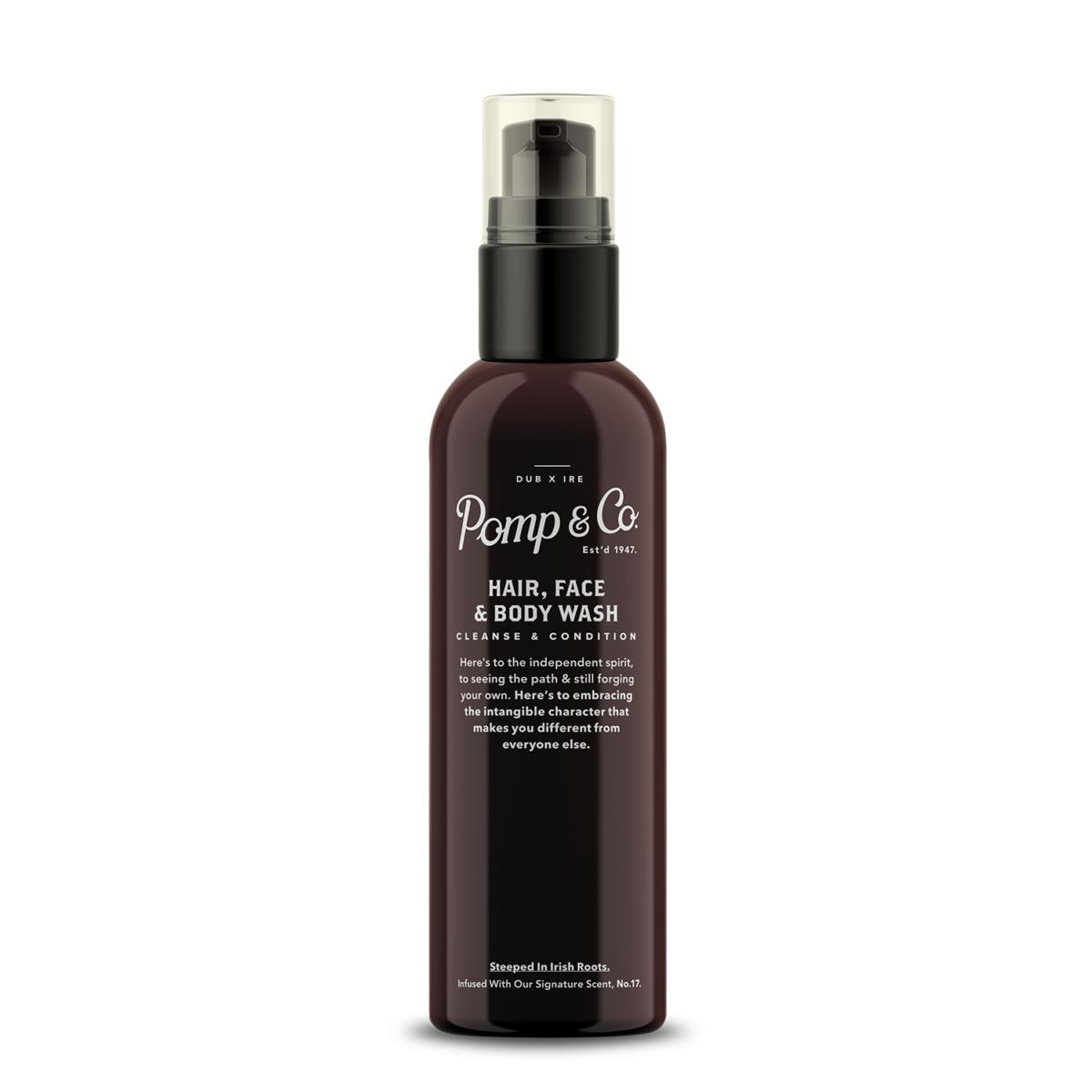 Tuotekuva: Pomp&Co. Hair, Face & Body Wash -nestemäinen saippua (200ml)