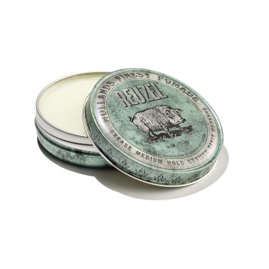 Tuotekuva: Reuzel Green – Medium Hold Grease Pomade (113 g)
