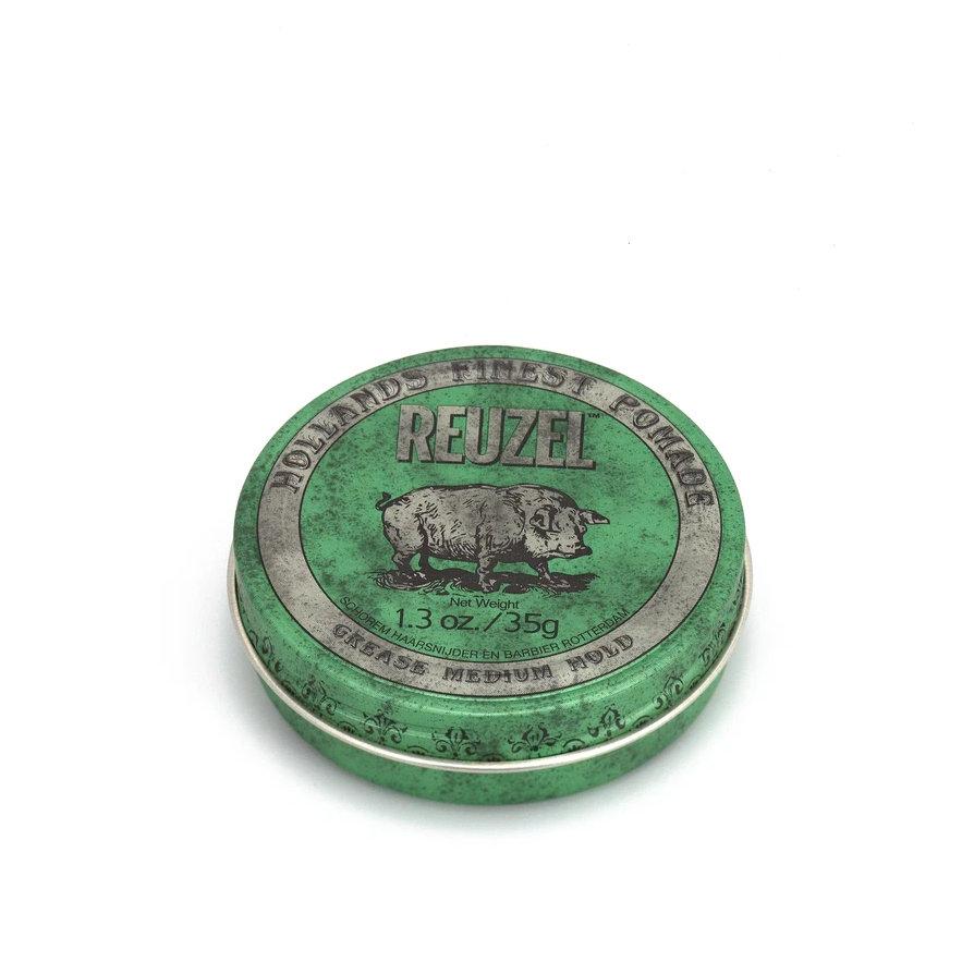 Tuotekuva: Reuzel Green – Medium Hold Grease Pomade (35 g) matkakoko