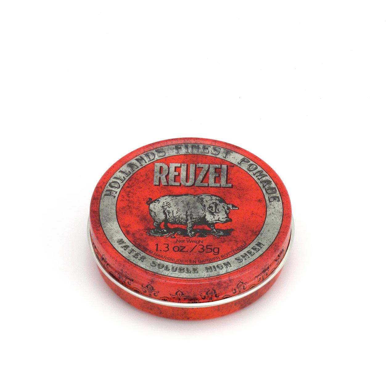 Tuotekuva: Reuzel Red – Water Soluble High Sheen Pomade (35 g) matkakoko