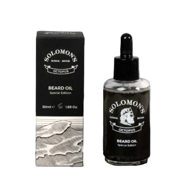 Tuotekuva: Solomon's Beard Octopus Black Oil -partaöljy (50 ml)