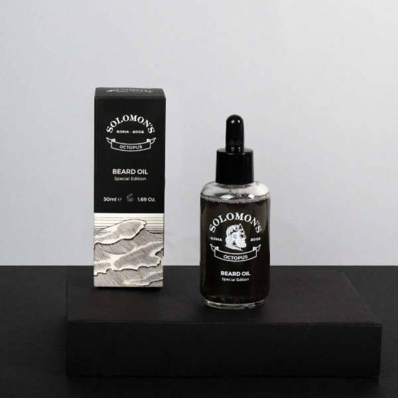 Tuotekuva: Solomon's Beard Octopus Black Oil -partaöljy (50 ml)