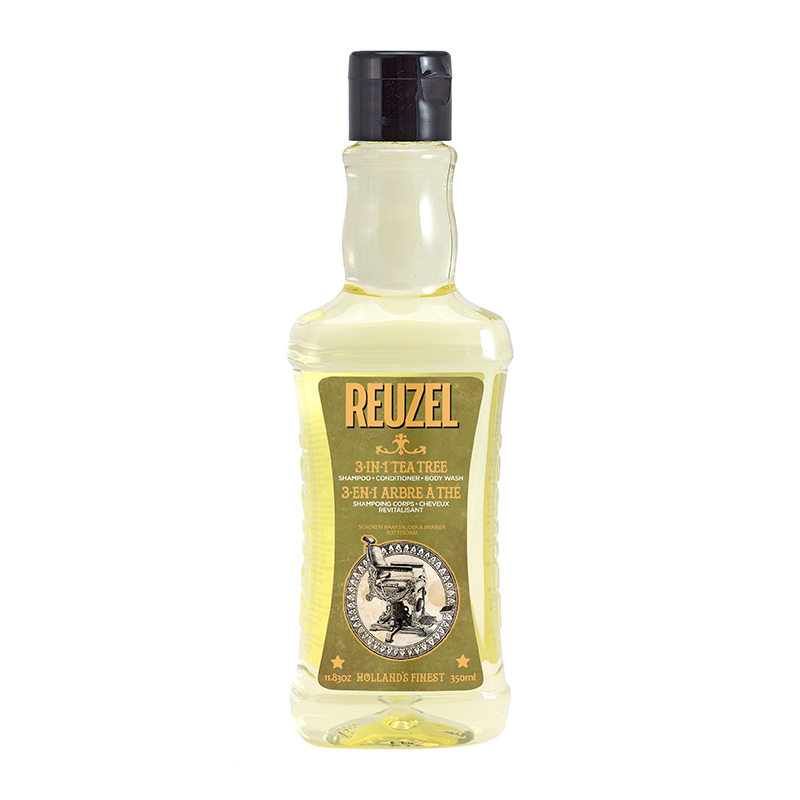 Tuotekuva: Reuzel Tea Tree 3-in-1 Shampoo, Conditioner & Body Wash (350ml)