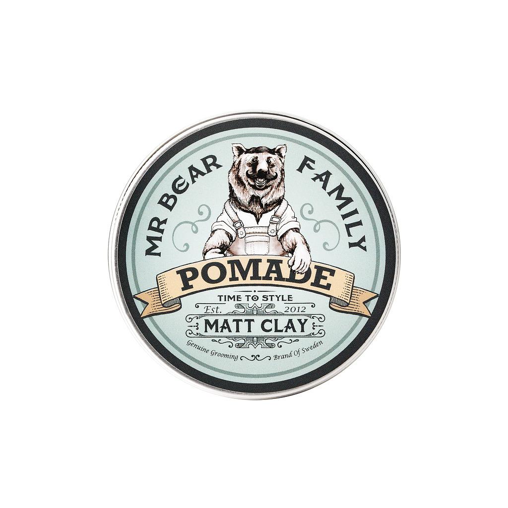 Tuotekuva: Mr Bear Family Pomade Matt Clay -hius / partavaha (100 ml)