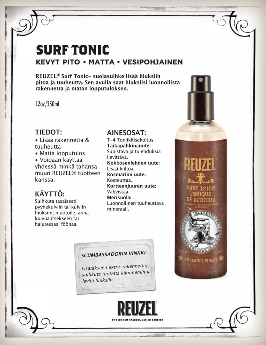 Tuotekuva: Reuzel Surf Tonic – suolasuihke (355 ml)