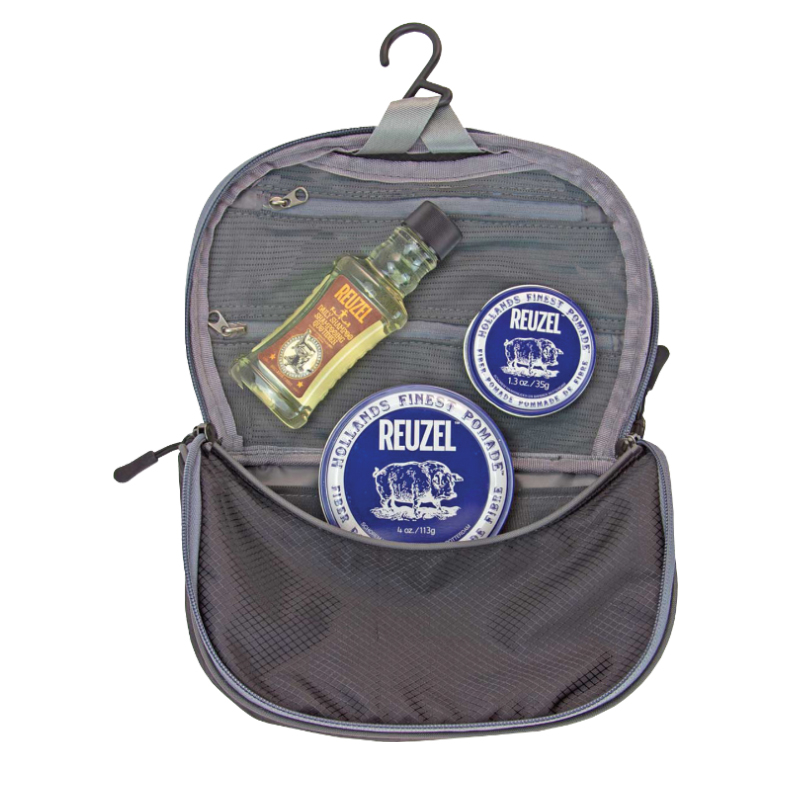 Tuotekuva: Reuzel Fiber Dopp Bag -lahjasetti (113g + 35g + Daily Shampoo 100ml + toilettilaukku)