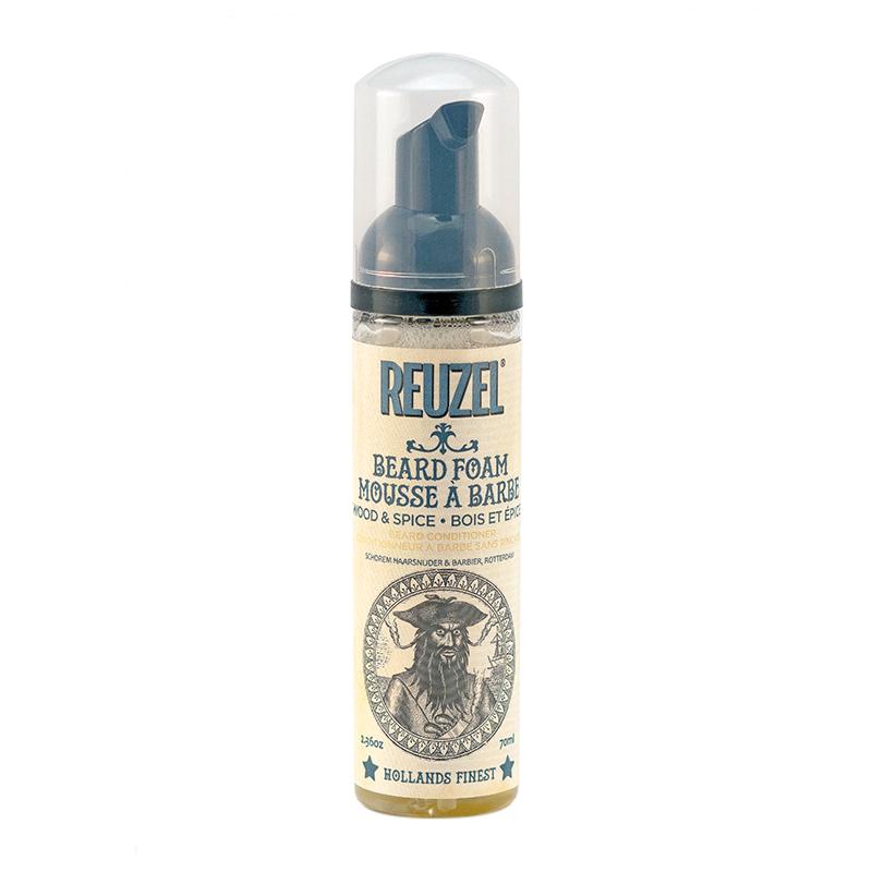 Tuotekuva: Reuzel Beard Foam Wood & Spice (70g) – jätettävä hoitovaahto parralle