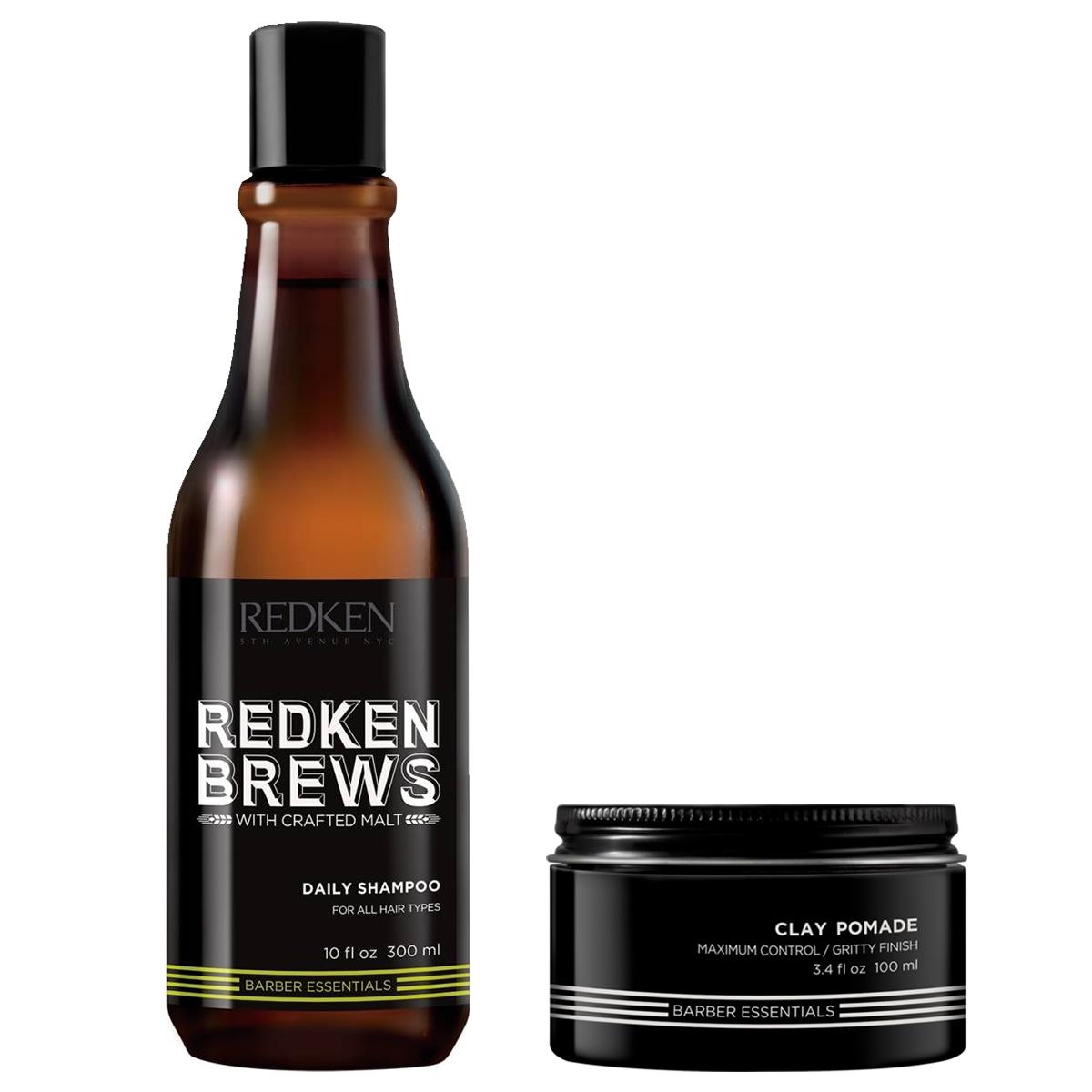 Tuotekuva: Redken BREWS Clay Pomade & Daily Shampoo -setti