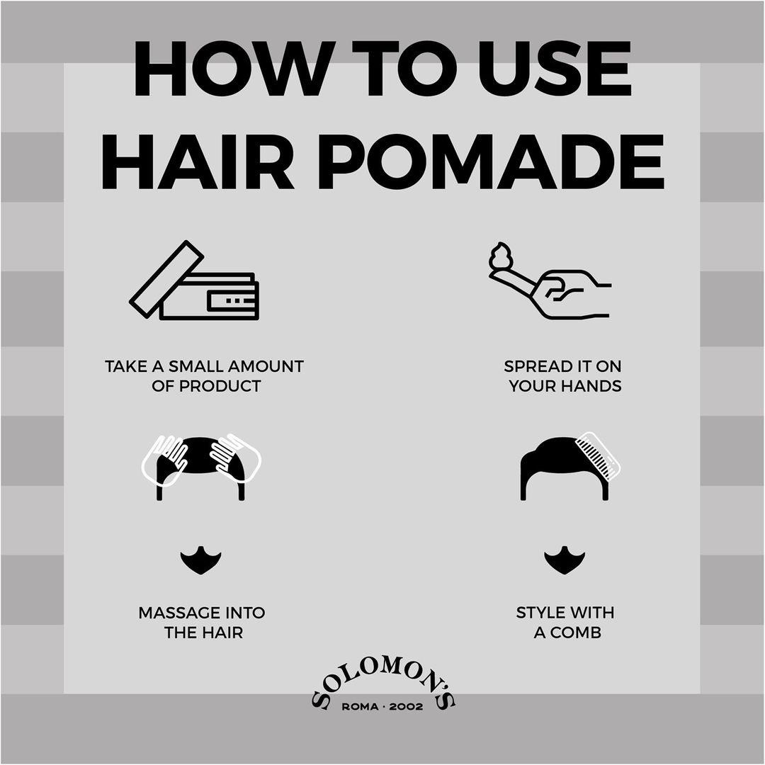 Tuotekuva: Solomon's Hair Medium Hold Shine Pomade LINK-BOY (100ml)
