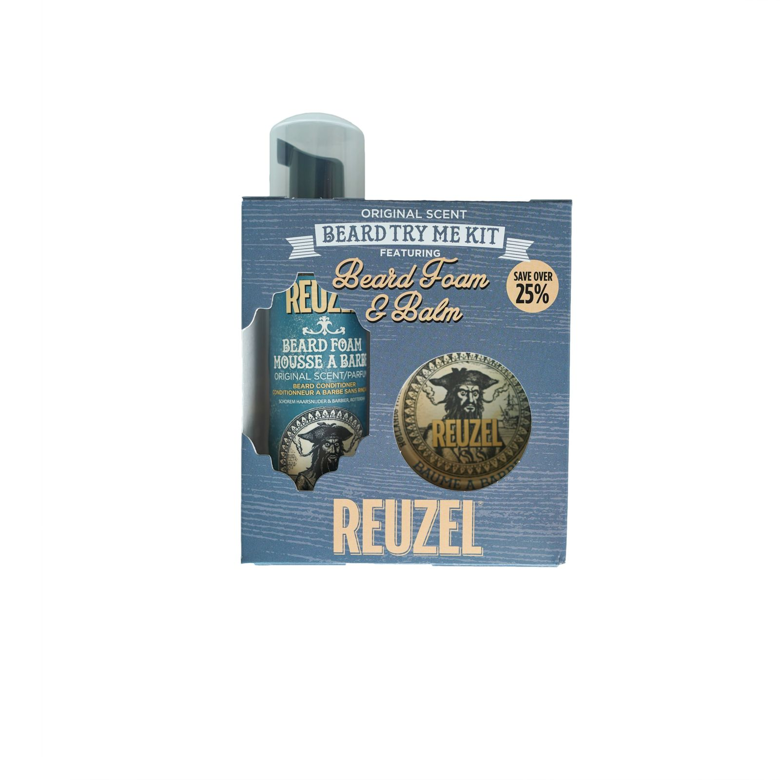 Tuotekuva: Reuzel BEARD Try Me Kit – Beard Foam & Balm
