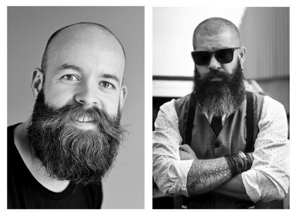 Artikkelikuva: Miesten hiustenlähtö / kaksi parrakasta miestä