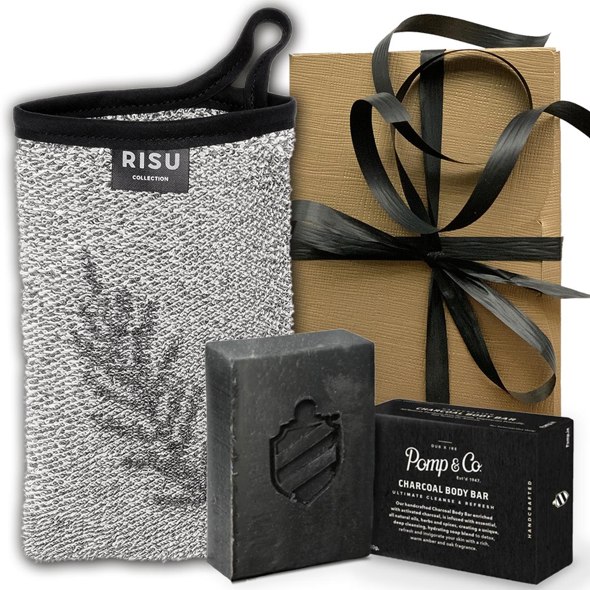Tuotekuva: Risu & Pomp&Co. pesukinnas & saippua lahjasetti