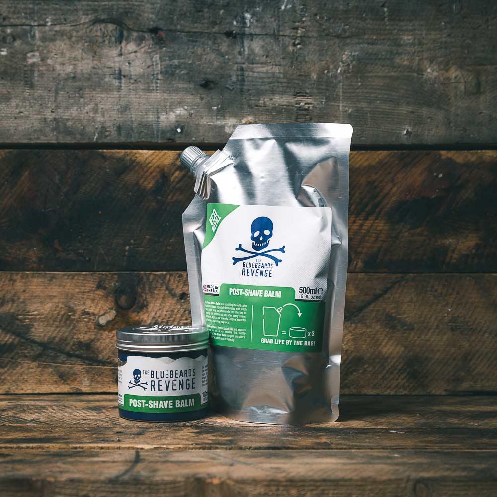 Tuotekuva: The Bluebeards Revenge aftershave balsami – Post Shave Balm täyttöpussi (500 ml)