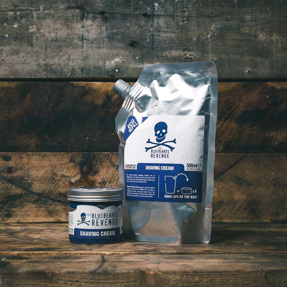 Tuotekuva: The Bluebeards Revenge Shaving Cream partavaahto täyttöpussi (500 ml)